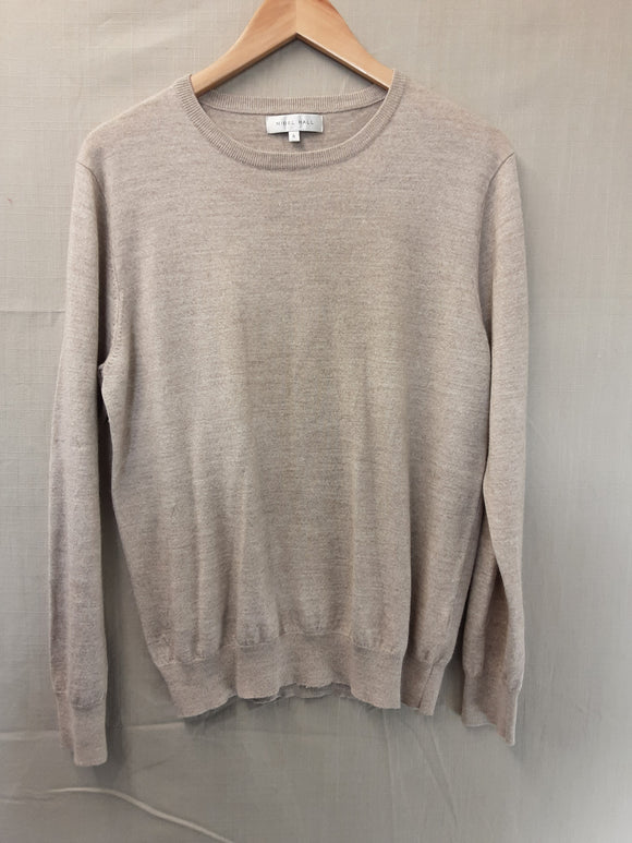 Mens Beige Nigel Hall Sweatshirt Size XL
