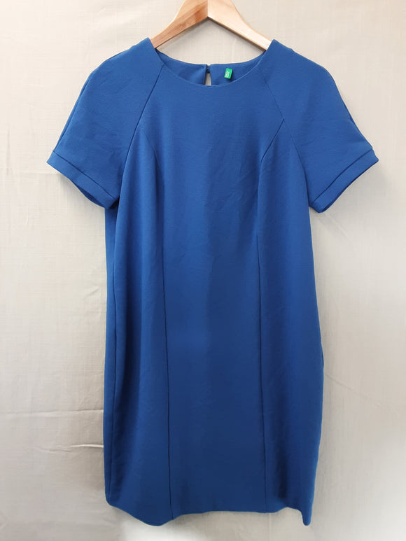 Ladies Blue United Colours of BBenetton Dress Size 10
