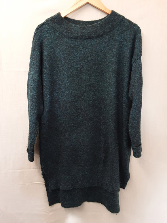 Ladies Green M&S Sweatshirt Size 10