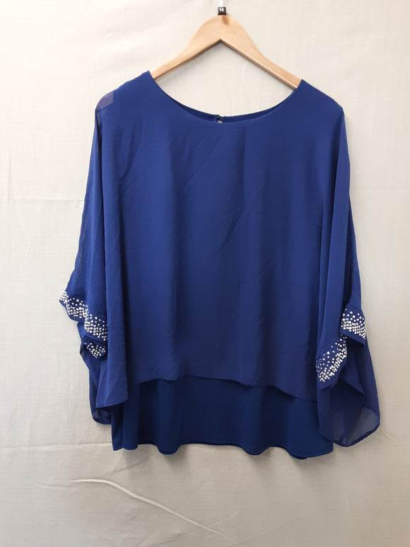 Ladies Blue Wallis Blouse Size  L
