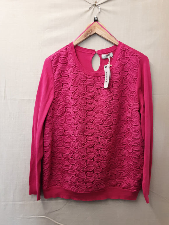BNWT Ladies Pink Monsoon Sweatshirt Size 18