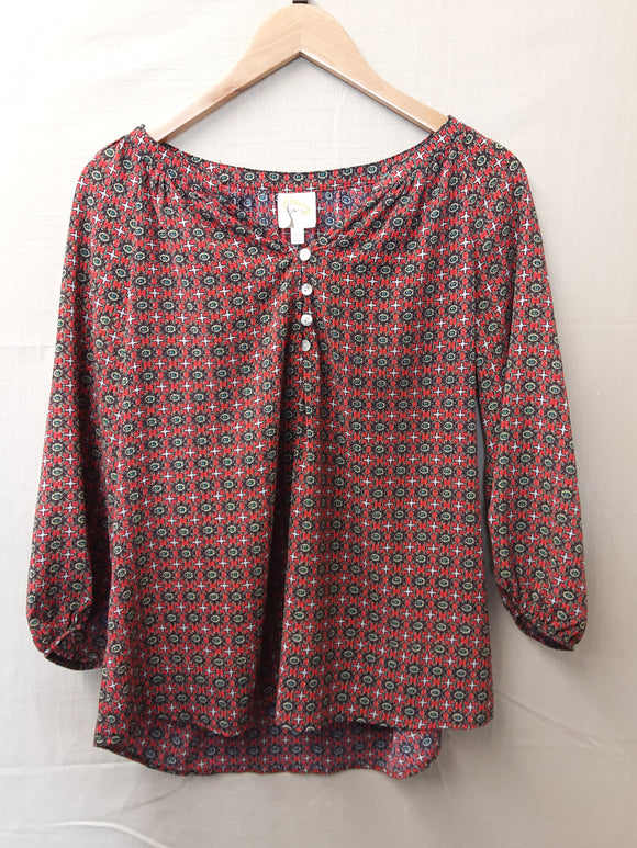 Ladies Fig and Flower Blouse Size M