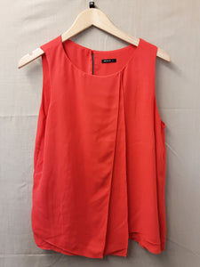 Ladies orange Roman blouse size 14 - H70