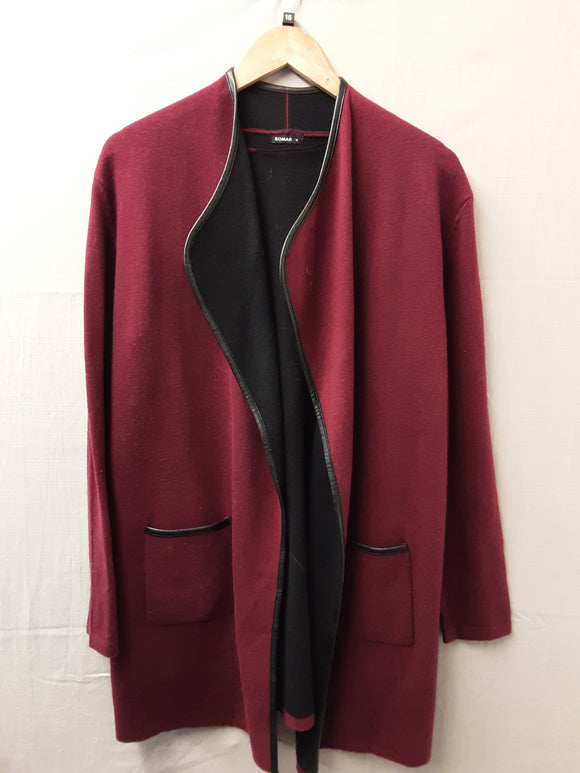 Ladies Red Roman Cardigan Size 16