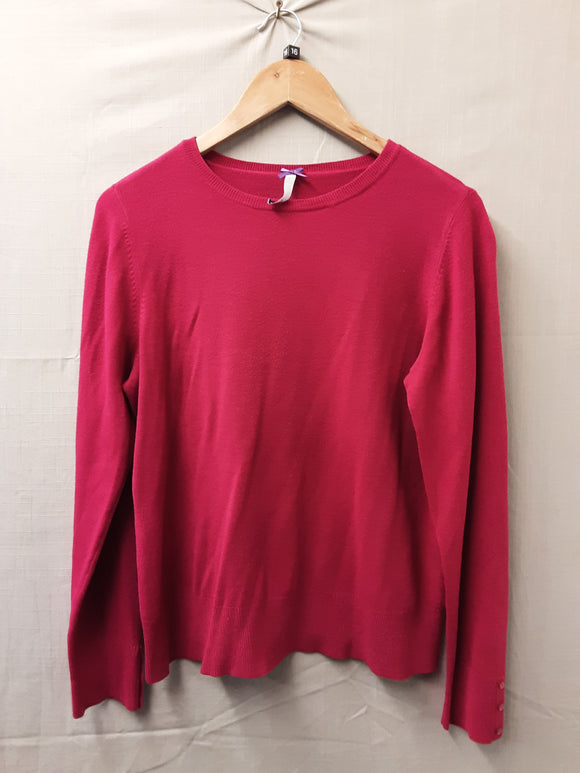 Ladies Pink Sweatshirt Size 16