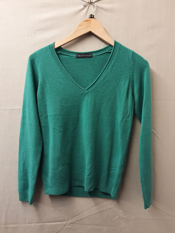 Ladies Green M&S Sweatshirt Size 8