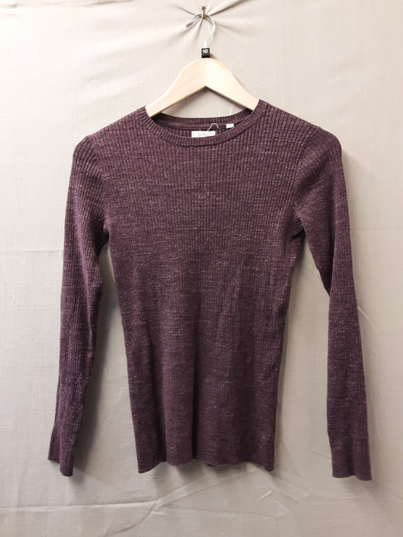 Ladies FatFace Purple Sweatshirt Size 10
