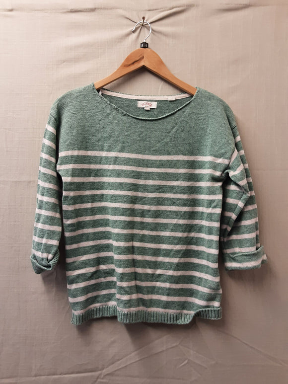 Ladies Green FatFace Sweatshirt Size 8