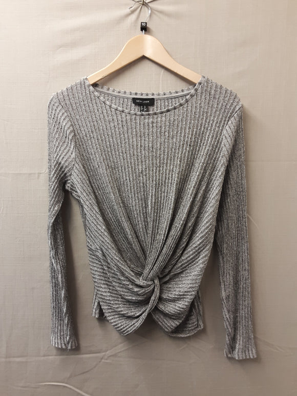 New Look Grey Blouse Size 10