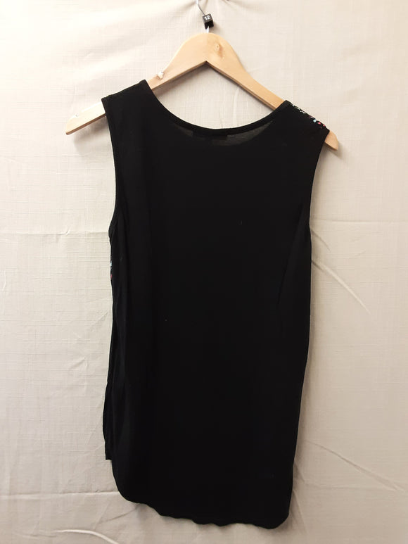 New Look Black Blouse Size 12