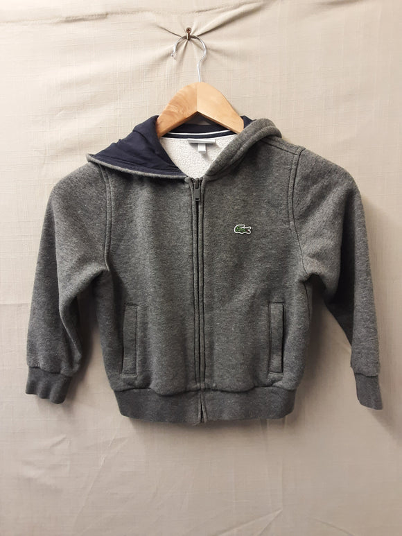 Kids Grey Lacoste Jumper Size 6