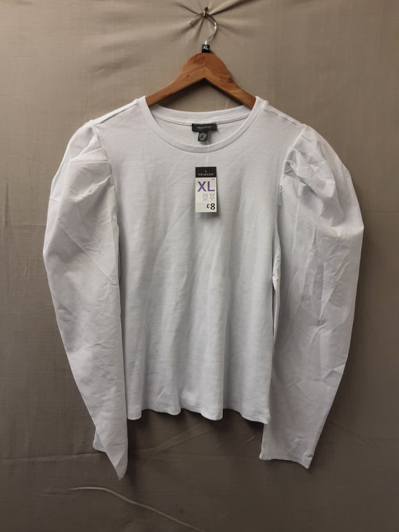 BNWT Ladies White Primark Blouse Size XL