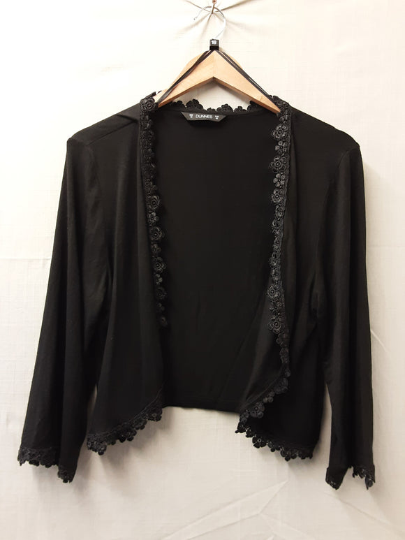 Ladies Black Dunnes Cardigan Size 18