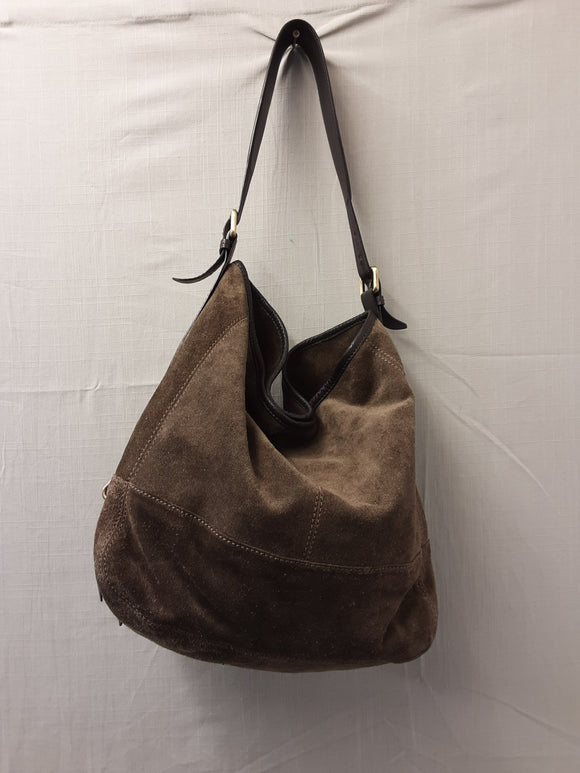Jigsaw Brown Leather Handbag