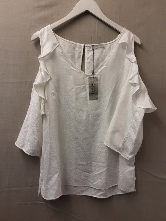 BNWT Monsoon White Blouse Size 18