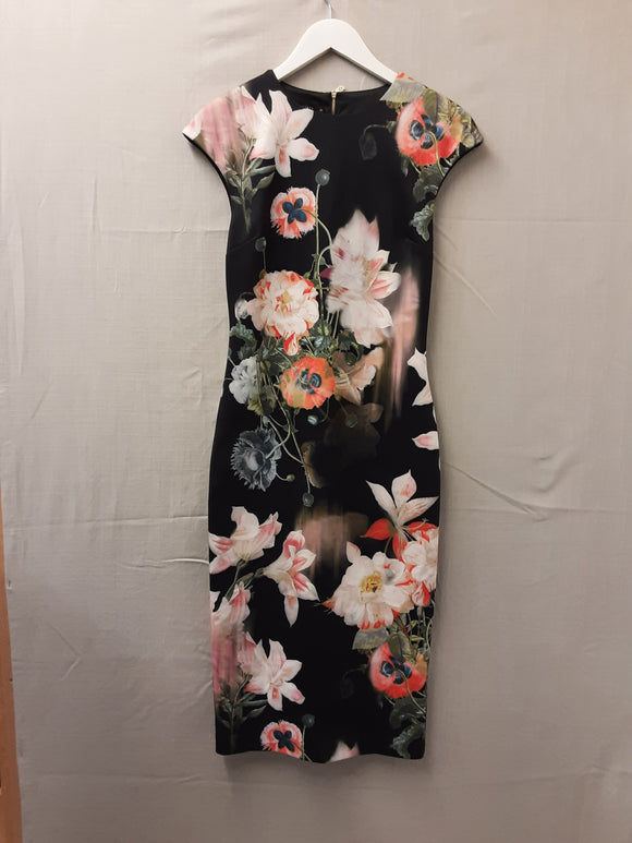 Ladies Ted Baker Floral Dress Size M