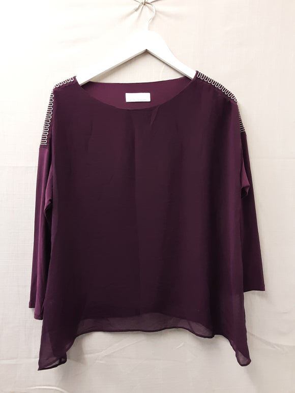Ladies Purple Wallis Blouse Size S