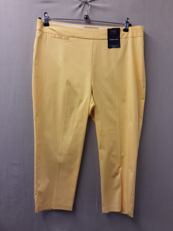 BNWT ladies M&S yellow trousers size 16