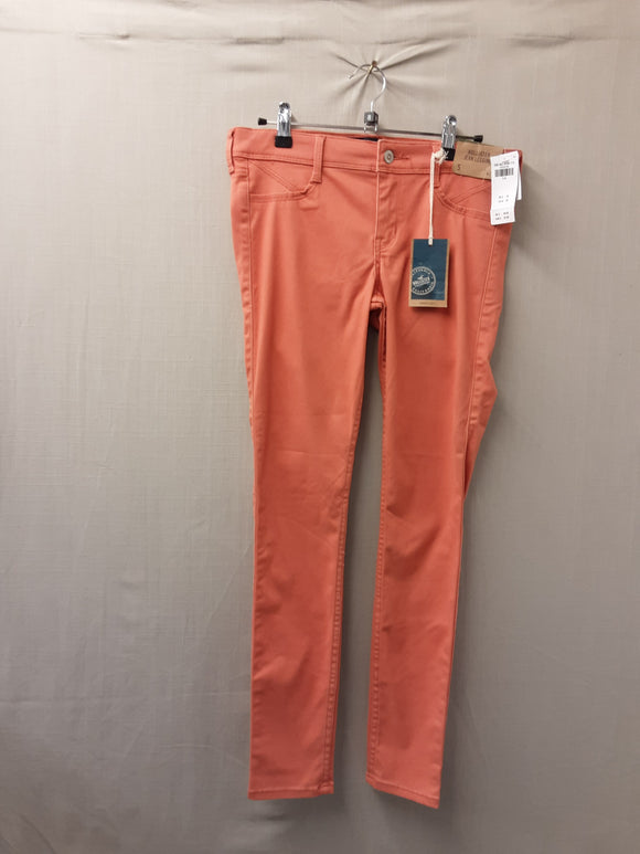 BNWT ladies orange Hollister leggings size 27W