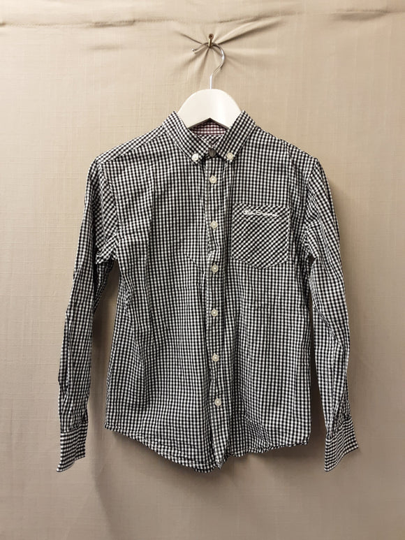 Boys Ben Sherman chequered long sleeve shirt size 8-9