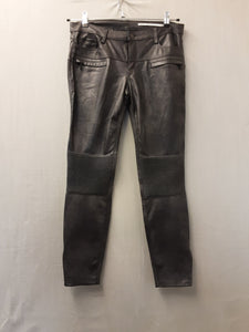 Ladies Zara leather look trousers size M
