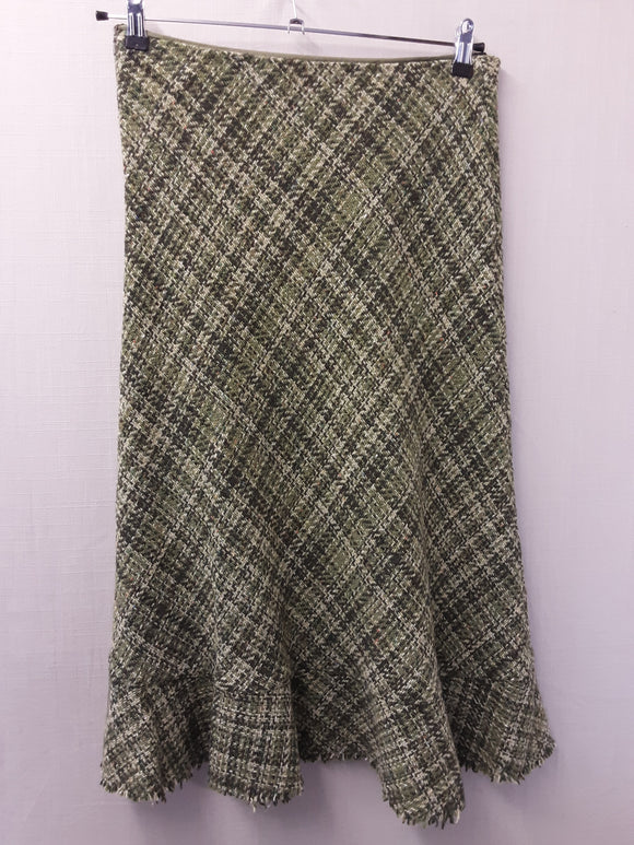 Ladies HOBBS green wool skirt size 12