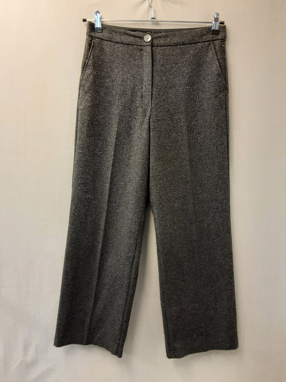 Ladies M&S grey wool trousers size 10