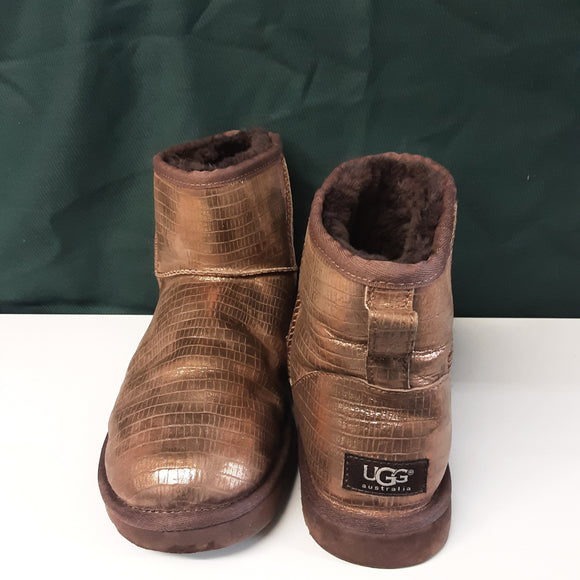 Ladies Gold UGG Boots Size 8.5