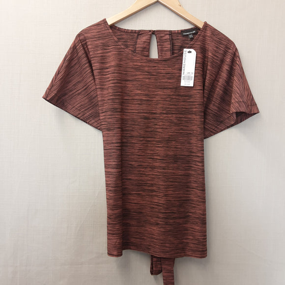 BNWT Brown Warehouse Blouse Size 14