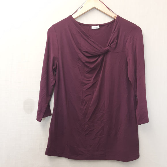 BNWOT Ladies Purple Damart Blouse Size 12