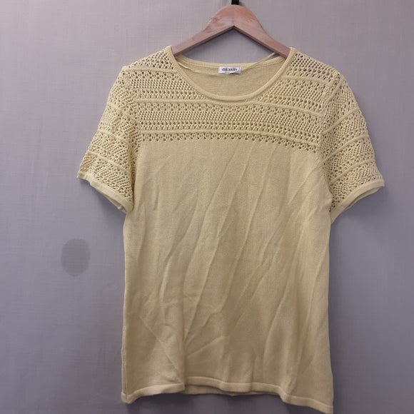 BNWOT Ladies Damart Yellow Knitted Blouse Size 16