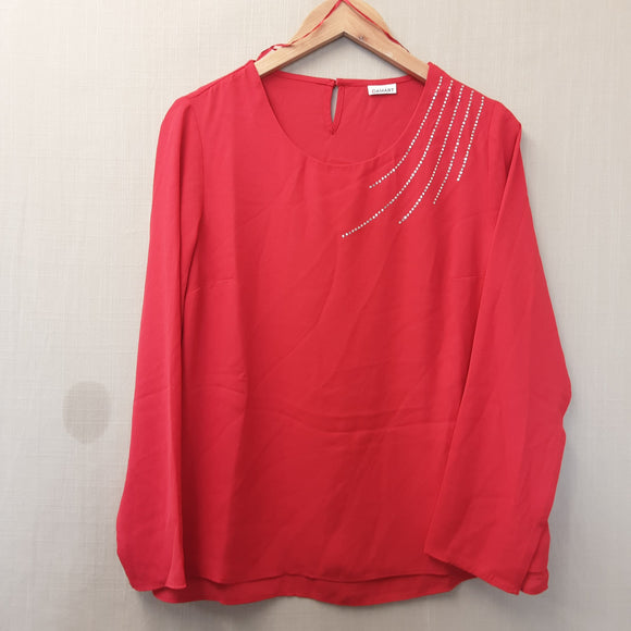 BNWOT Ladies Damart Red Blouse Size 10