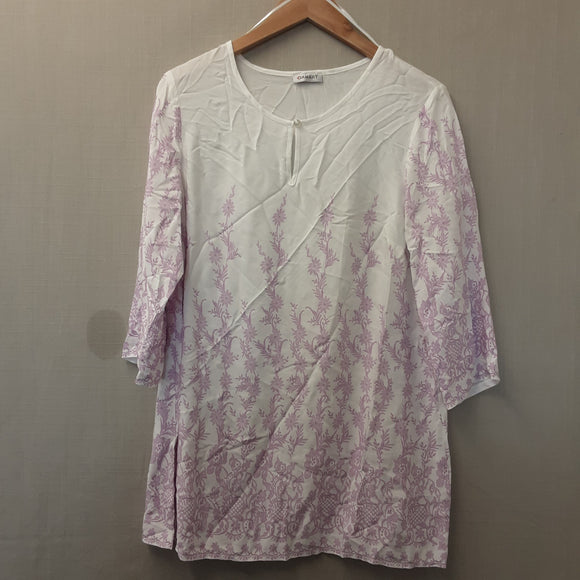 BNWOT Ladies Purple Damart Blouse Size 10