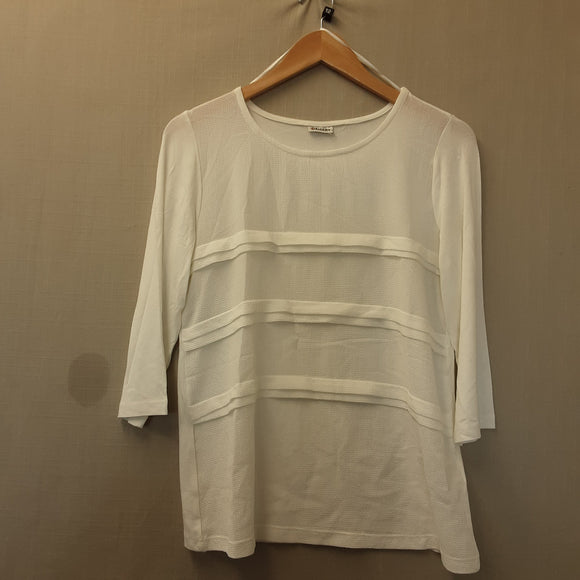 BNWOT Ladies Damart Cream Blouse Size 12