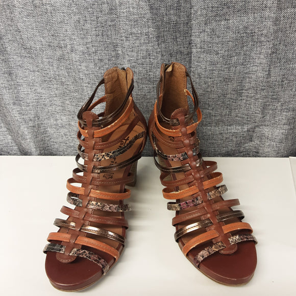 Brown Tamari Heeled Sandal Size 6