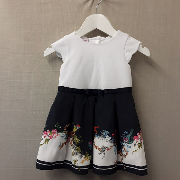 White & Blue Ted Baker Dress Size 9-12 Months