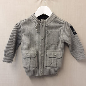 BNWT Grey Next Cardigan Size 9-12 Months