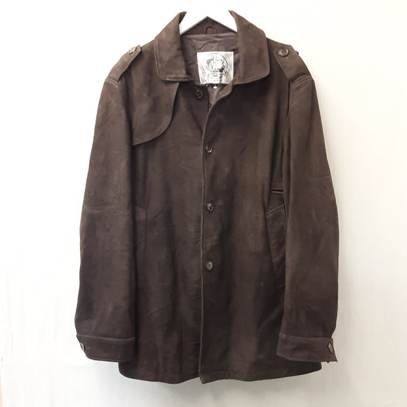 Brown Tom Cat Leather Coat Size L