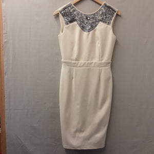 Cream Little Mistress London Dress Size 10