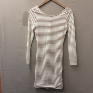 BNWT Cream Stripe Baloo Mini Dress Size 6