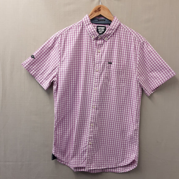 Pink Superdry Oxford Shirt Size L