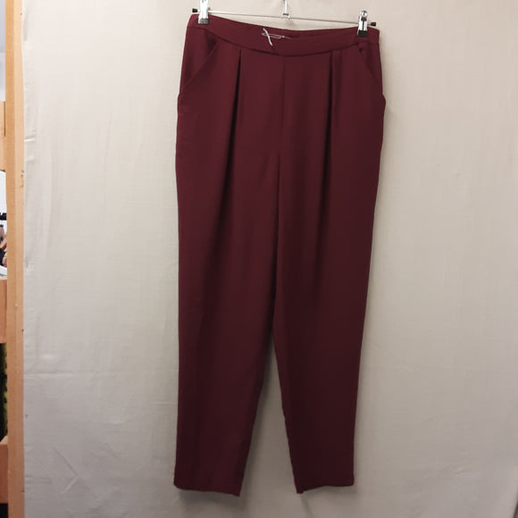 BNWOT Burgundy George Trousers Size 14