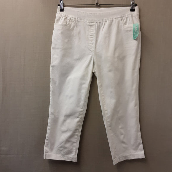 BNWT White Damart Trousers Size 12
