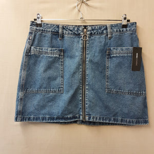BNWT Papaya Blue Denim Skirt Size 14