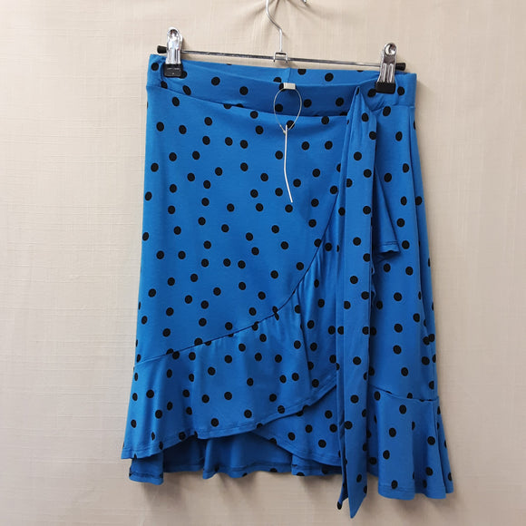 BNWT Asos Blue Polka Dot Skirt Size 8