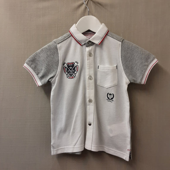 BNWT Grey Chicco Polo Shirt Size 3 Years