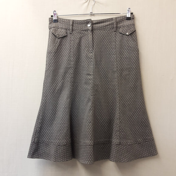 Per Una Grey Polka Dot Skirt Size 12