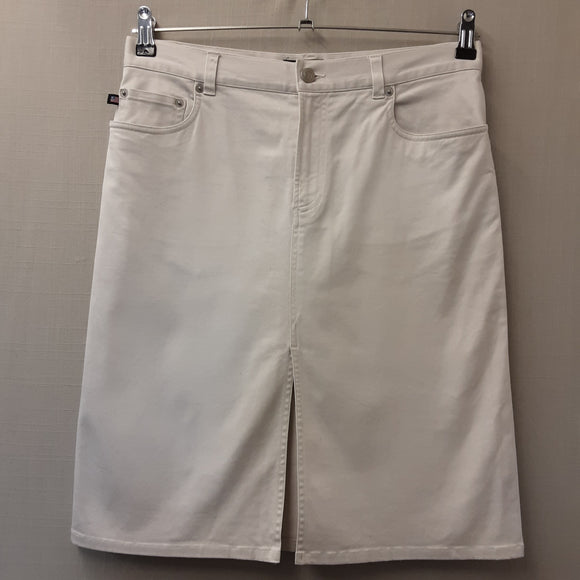 Polo Ralph Lauren White Jean Skirt Size 8