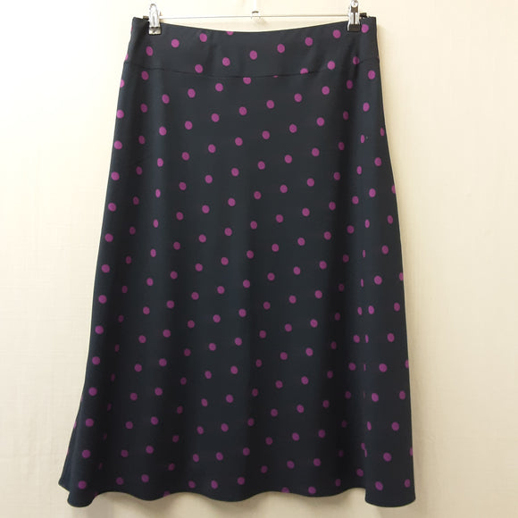 Blue Polka Dot M&S Skirt Size 16