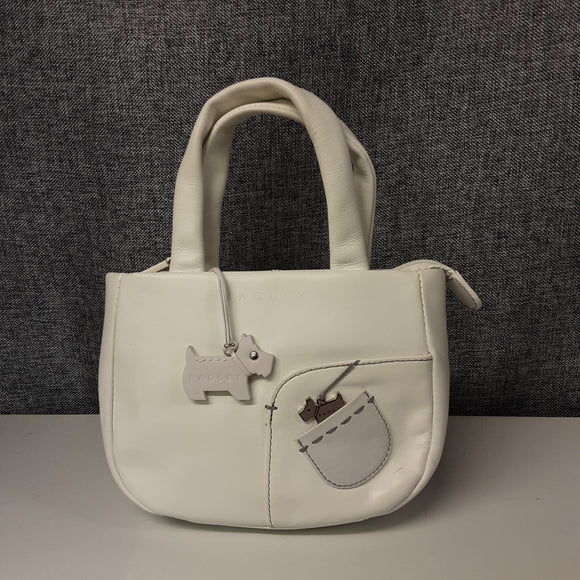 White Leather Mini Radley Bag